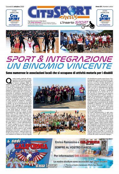 Inserto Sport & Integrazione 1° ottobre 2020