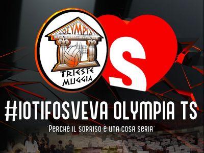 Olympia Trieste e #IoTifoSveva legati sul parquet
